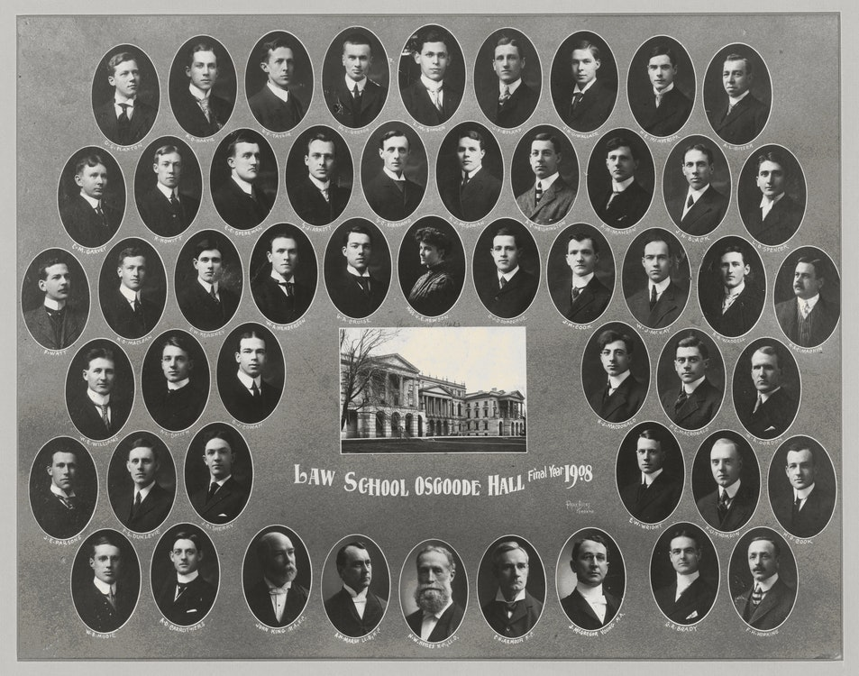 <p>The class of 1908, Osgoode Hall Law School.</p>