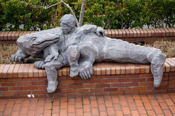 <p>Boy with the Alligator</p>