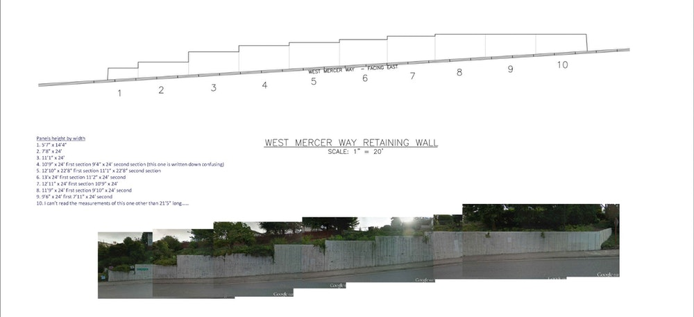 <p>The wall dimensions and a view of the full canvas pre-mural</p>