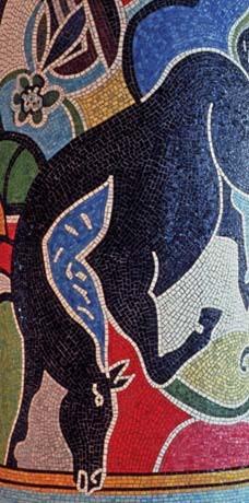 <p>© Rudy Autio, detail of black horse</p>