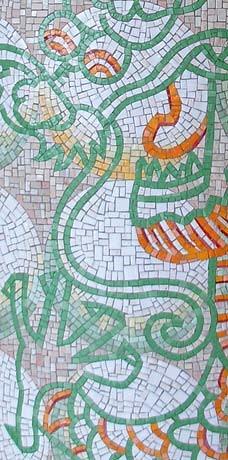 <p>Detail of green dragon, photo by John Brew</p>