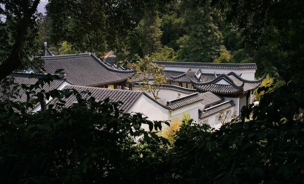 <p>Aerial view of Liu Fang Yuan, The Garden of Flowing Fragrance</p>