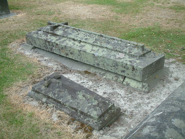 <p>Dr Edward Butler and his son's's grave, Timaru Cemetery</p>