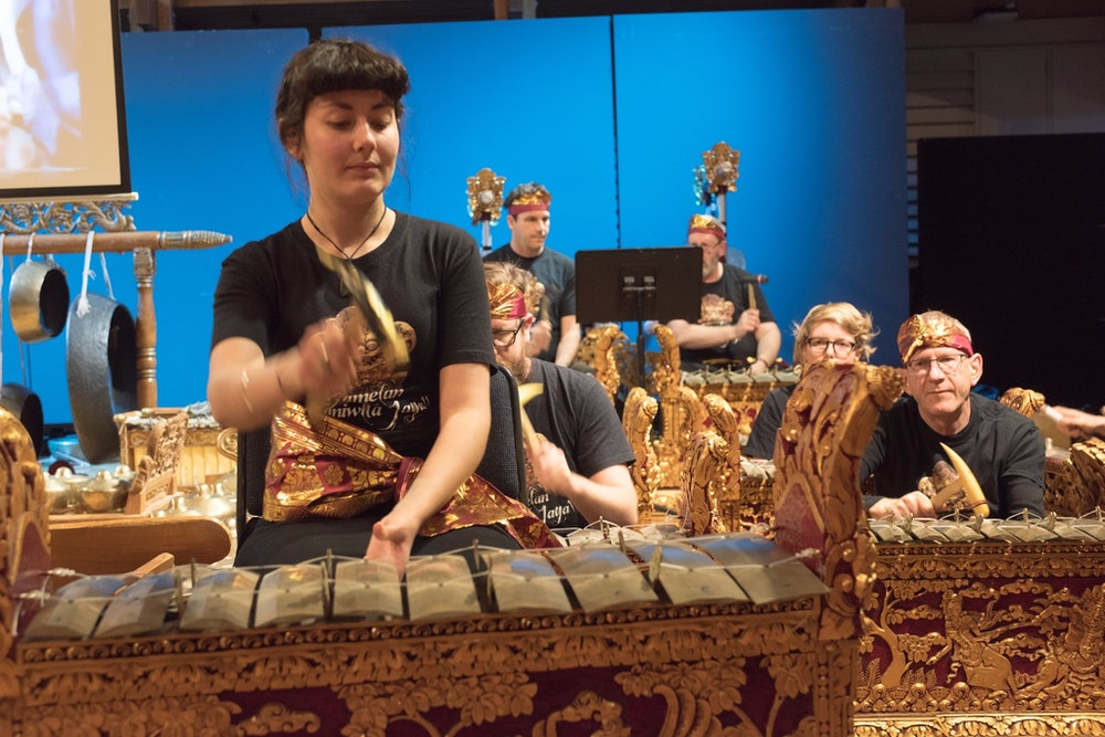 <p>Student gamelan performance. </p>