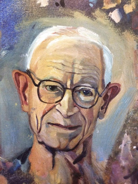 <p>Behind the scenes images of Marianne's time painting the late Alan MacDiarmid. Images supplied by Marriane Muggeridge.</p>