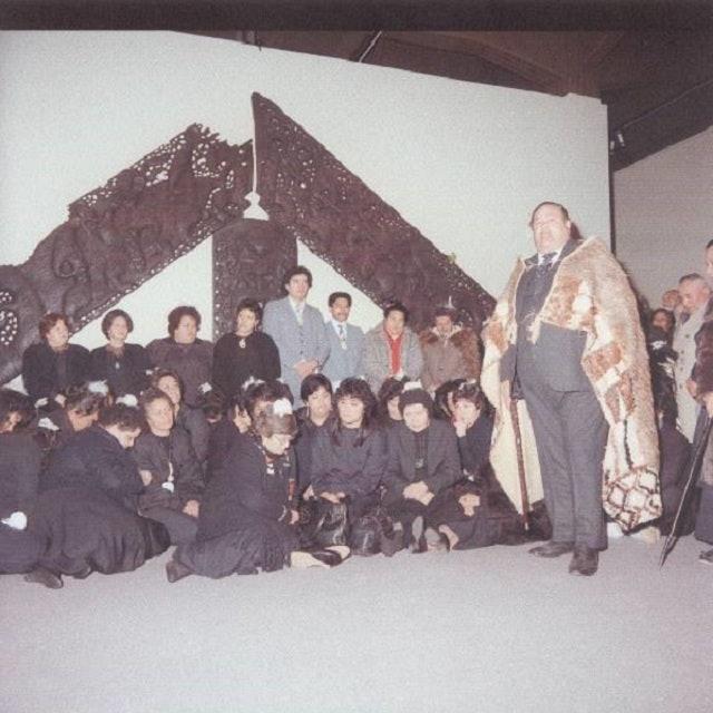 <p><em>Te Maori </em>opening ceremony at National Museum (now Te Papa Tongarewa) in 1986</p>
