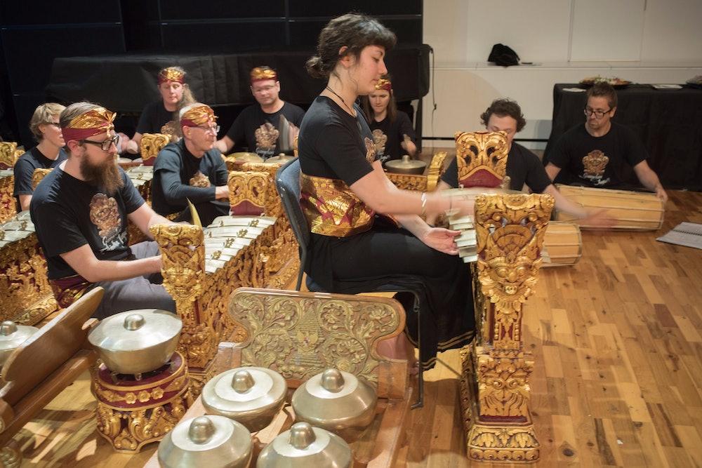 <p>Student gamelan performance.</p>