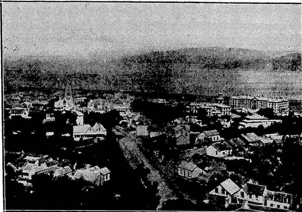 <p><em>View of the Thorndon reclamation area, the new sea wall on the right and the Thorndon hills on the left</em>. Source: Evening Post, 21 August 1931. Alexander Turnbull Library, Wellington, New Zealand. Some rights reserved https://natlib.govt.nz/records/17041989</p>