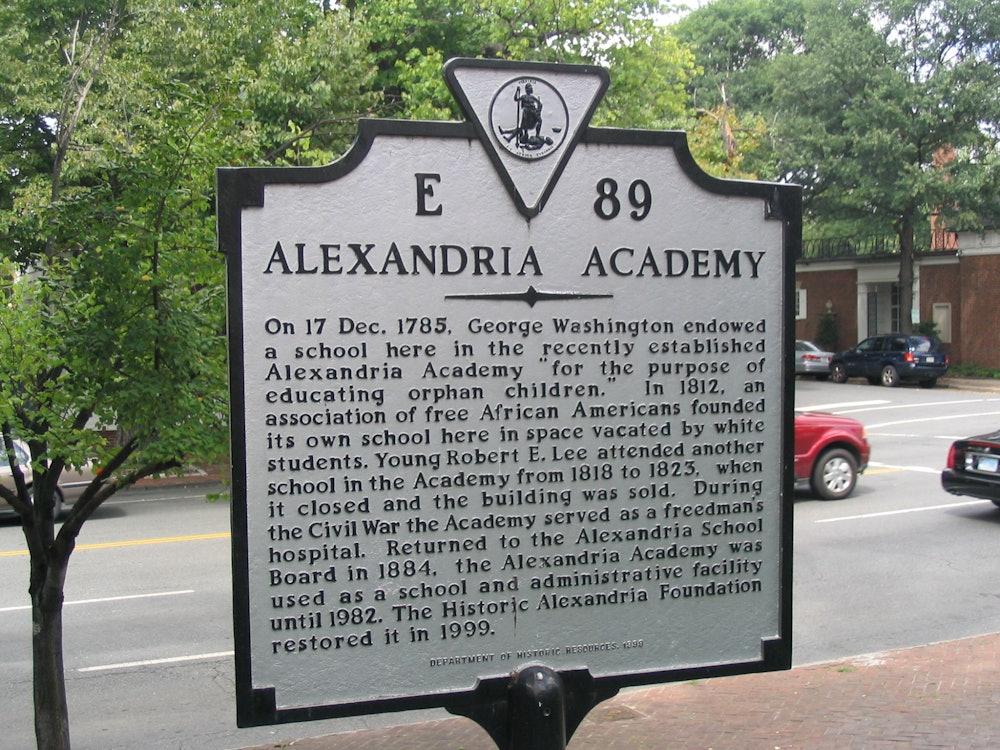 <p>Alexandria Academy Historic Marker</p>