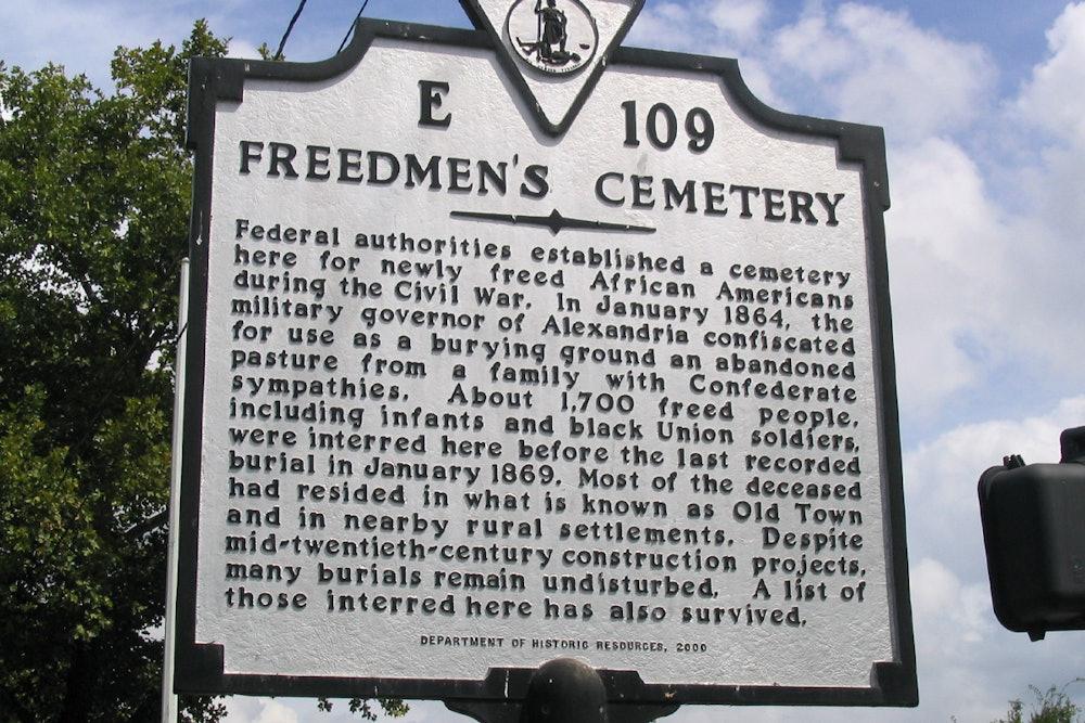 <p>Freedman's Cemetery Historic Highway Marker</p>