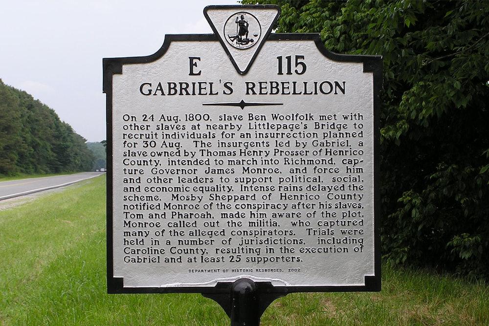 <p>Gabriel's Rebellion Historic Highway Marker</p>