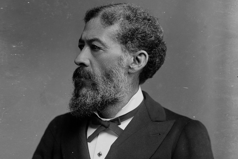 <p>Photograph shows John Mercer Langston (1829-1897), who was an abolitionist, first dean of the law school at Howard University and U.S. Representative from Virginia.</p>