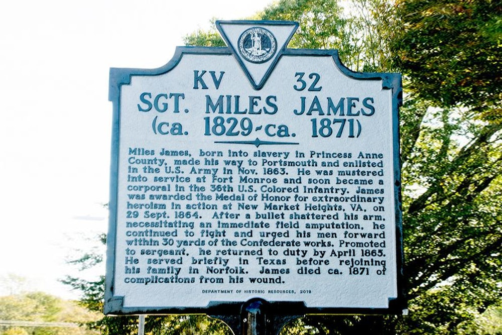 <strong>Sgt. Miles James Historical Marker</strong>