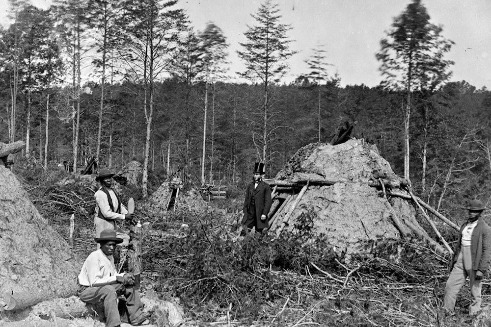 <p>Wood chopper huts on the Orange &amp; Alexandria Railroad</p>