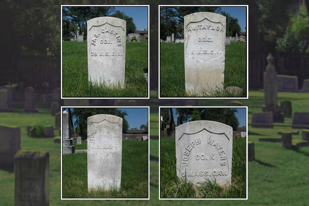 <p>Location of graves at Mount Zion Community Cemetery: (left side from gate entrance): James Gaskins (3rd row), William Taylor (3rd row), John W. Langford (13th row), Joseph Waters (14th row)</p>