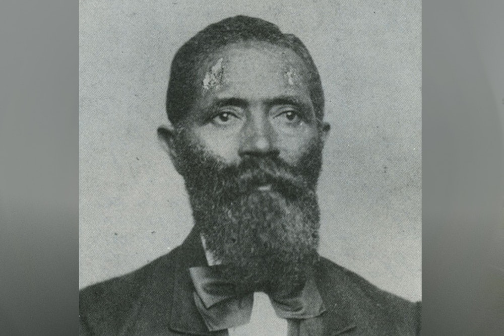 <p>Portrait of George Teamoh (1817-after 1887); born a slave, worked as the Norfolk Navy Yard and other military installations. Teamoh wrote his autobiography and served in the Virginia legislature during the Reconstruction era.</p>