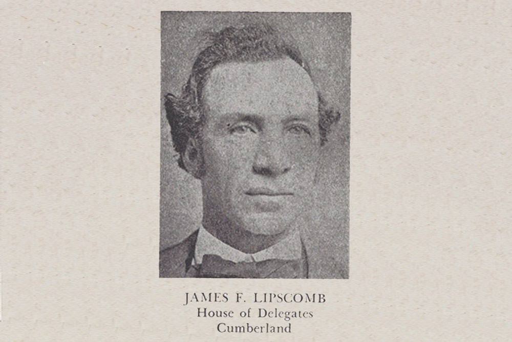 <p>This photograph of James F. Lipscomb was published in Luther Porter Jackson's <em>Negro Office-Holders in Virginia, 1865–1895</em> (1945). Lipscomb served as a member of the House of Delegates representing Cumberland County from 1869 to 1877.</p>