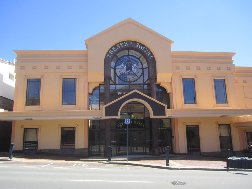 <p>Originally a stone store, built by Richard Turnbull, the Theatre Royal was rebuilt as a theatre in the later nineteenth century. Used as a sports arena, movie theatre and for presenting numerous stage shows, the building was bought by the Timaru City Council in 1963.</p>