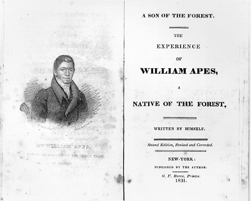 <p>William Apess - bookcover</p>