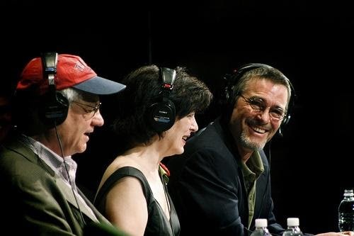 <p>Tom Bodett with Roy Blount, Jr and Roxanne Roberts on NPR's Wait Wait Don't Tell Me  </p>