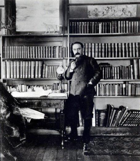 <p>Kipling in his study - Naulakha - Photo courtesy: Landmark Trust USA</p>