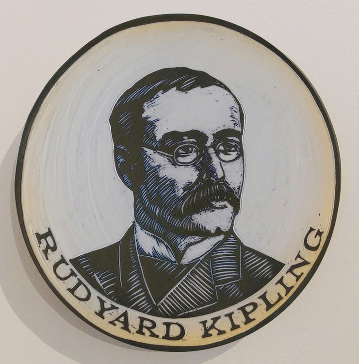 <p>Rudyard by Cynthia Parker Houghton: a clay portrait commissioned for the Brattleboro Words Project and Brattleboro Words Trail. Houghtonart.com</p>