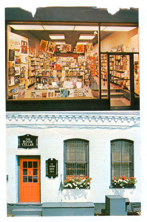<p>120 Main Street Downtown Brattleboro: The Stephen Green Press offices in the basement of the Book Cellar. Photo Courtesy of the Greene Family Archive</p>