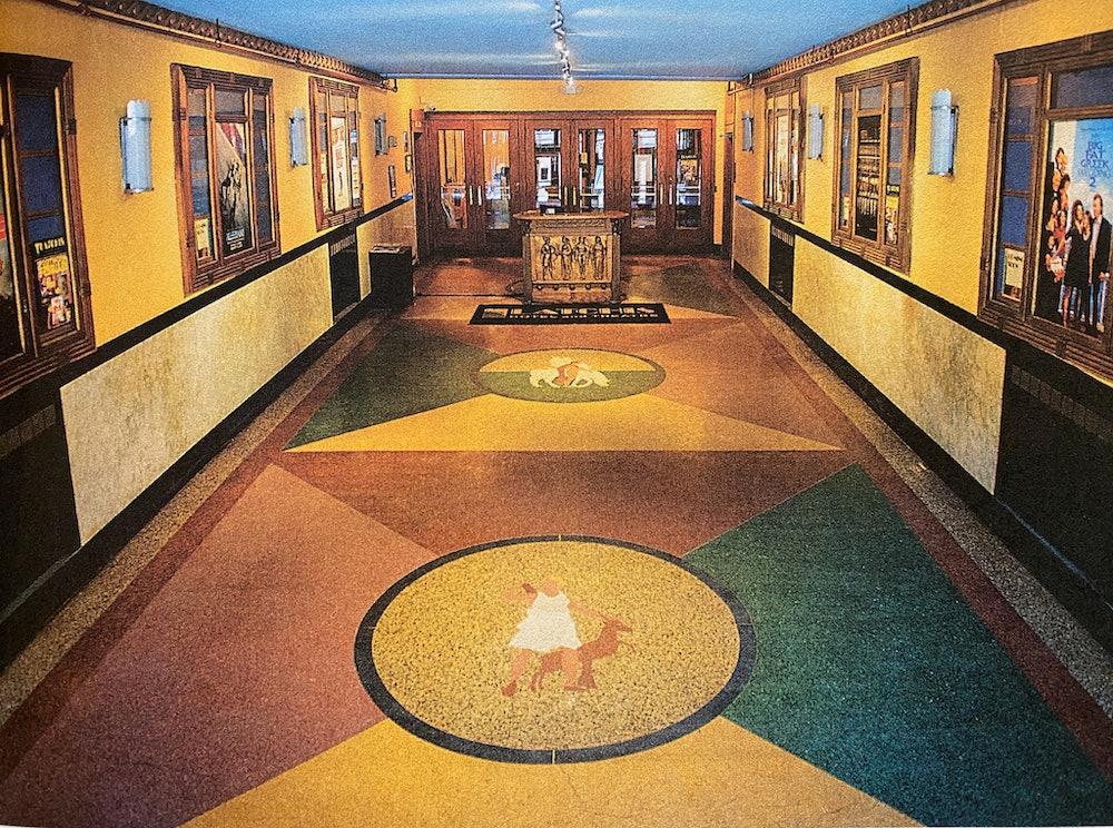 <p>Terrazzo floors in Latchis Theatre entry</p>