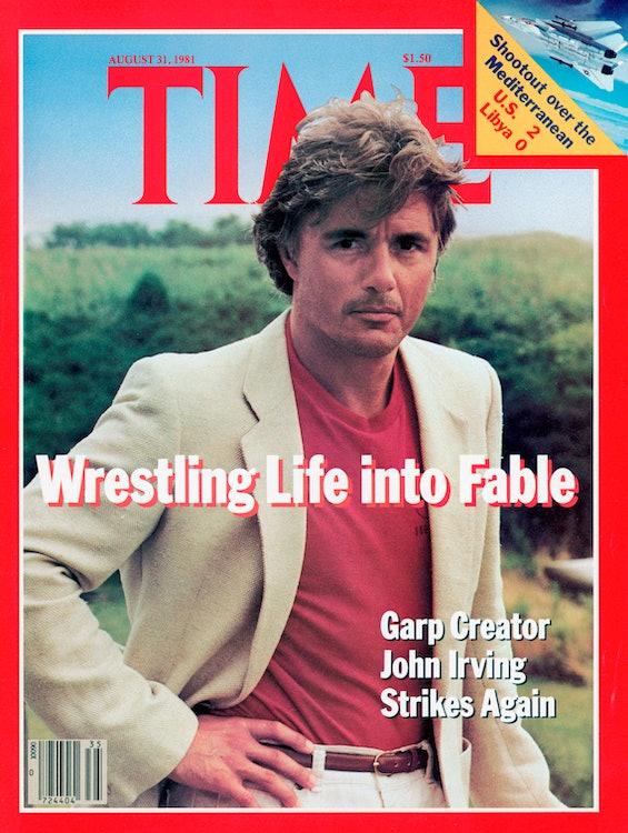 <p>John Irving - wrestler - writer - cover of Time</p>
