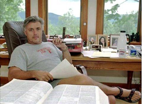 <p>John Irving in Vermont</p>