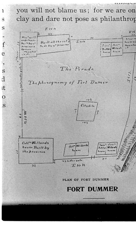 <p>Plan for Fort Dummer - an old map</p>