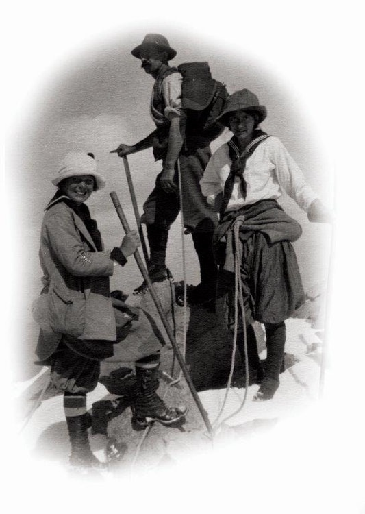 <p>Carmelita Hinton with Dorothy Douglas mountain climbing. Photo provided courtesy</p>