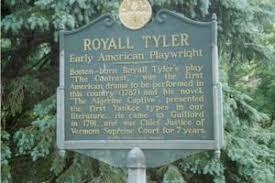 <p>Royall Tyler Historical Marker</p>