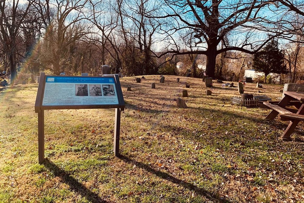 <p>The historic cemetery at Galloway Methodist Church</p>