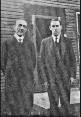 <p>Arthur Goodenough and H.P. Lovecraft - Brattleboro Historical Society</p>