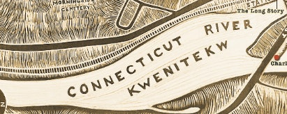 <p>Kwenitekw - Connecticut River- Brattleboro Words Trail map by Cynthia Parker Houghto</p>