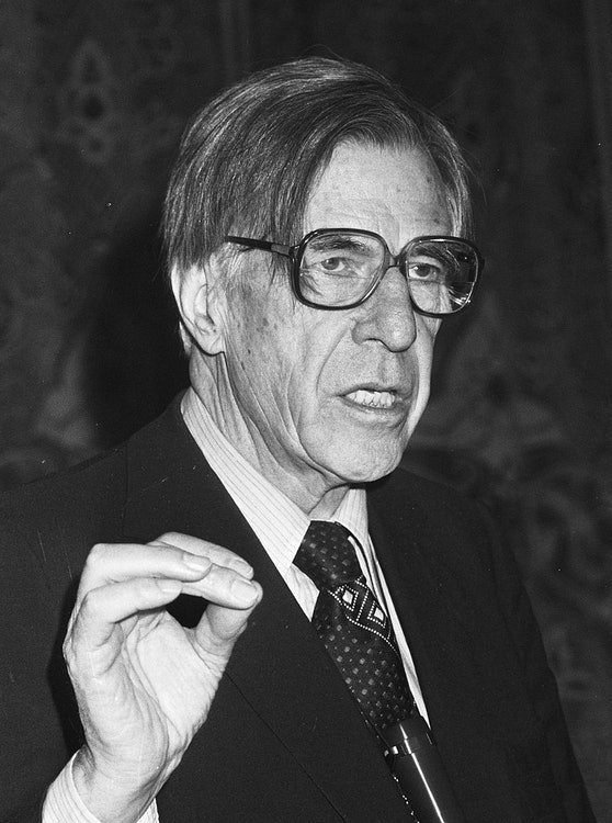 <p>John Kenneth Galbraith 1982</p>