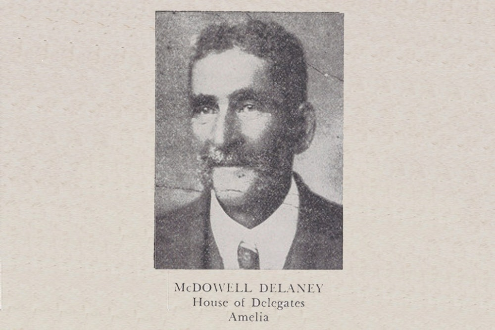 <p>McDowell Delaney, a member of the House of Delegates from Amelia County from 1871 to 1873, in this portrait from Luther Porter Jackson's <em>Negro Office-Holders in Virginia, 1865–1895</em> (1945).</p>