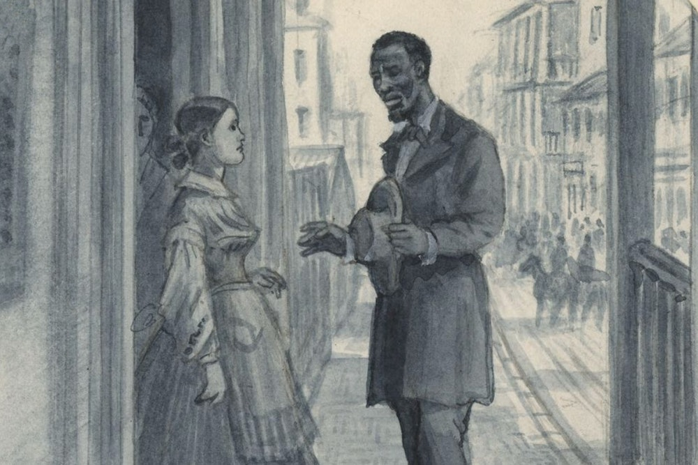 <p>In Confederate-held Winchester, Thomas Laws delivers his message to Rebecca Wright.</p>