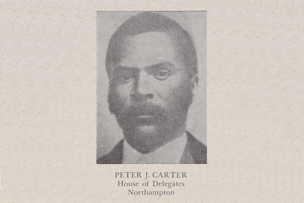 <p>Peter Jacob Carter is the subject of this portrait, taken by an unknown photographer in the <strong>nineteenth</strong> century. This image was published in Luther Porter Jackson's <em>Negro Office-Holders in Virginia</em> (1945)<em>.</em></p>