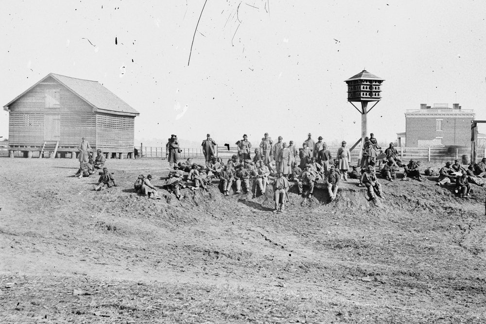 <p><strong>USCT's from the Army of the James at Aiken's Landing</strong></p>
