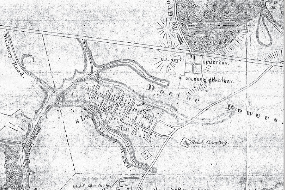 <p><strong>1866 Map of Slabtown</strong></p>