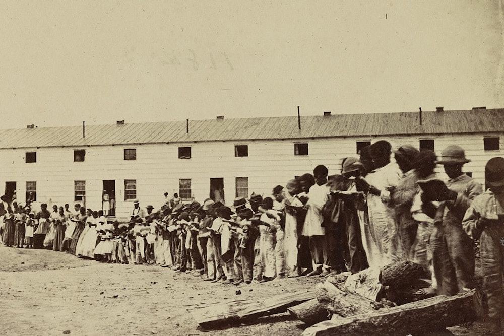 <p>The contraband school at Freedman's Village, Arlington, Va.</p>