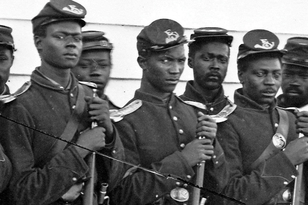 <p>The 4th U.S. Colored Troops fought on September 29, 1864, at New Market Heights</p>