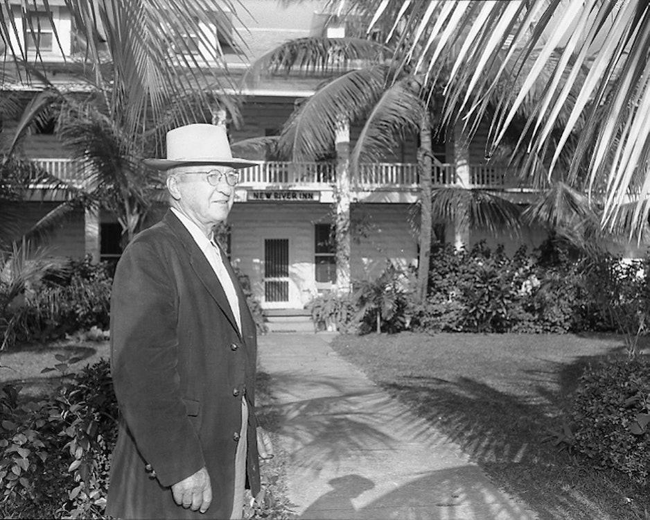 <p>Tom Bryan at New River Inn 1955.</p>