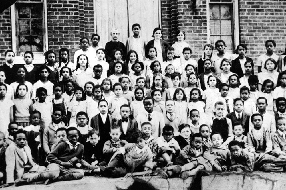 <p><strong>This undated photo features students and teachers at Christiansburg Industrial Institute</strong></p>
