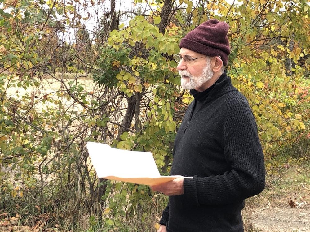 <p>John Warren on the West River Trail</p>