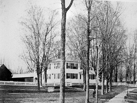 <p>West Brattleboro Common, 1896 photo: Brattleboro Historical Society</p>