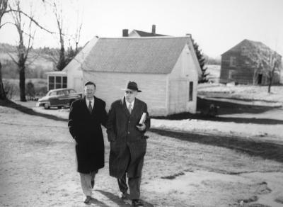 <p>Walter Hendricks and Robert Frost at Marlboro College. Photo: Marlboro College</p>