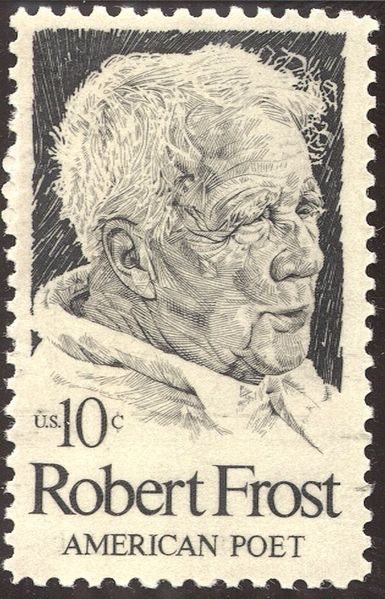 <p>Robert Frost - US Stamp - 1974. National Endowment for the Arts. Photo: public domain</p>